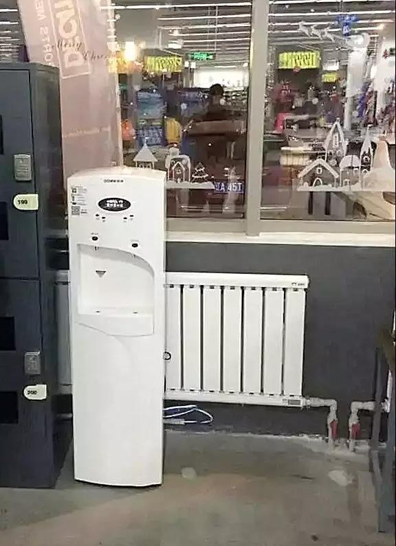 迪卡侬商场里的浩泽直饮净水器