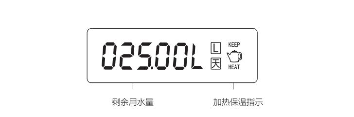 浩泽JZY-A6G-W管线饮水机显示界面