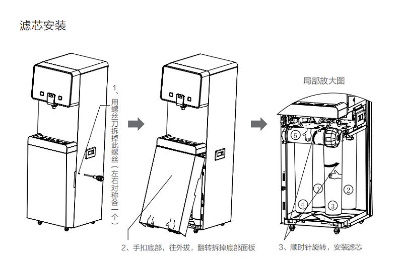 浩泽JZY-A5B2-G2(HDW)净水机滤芯安装